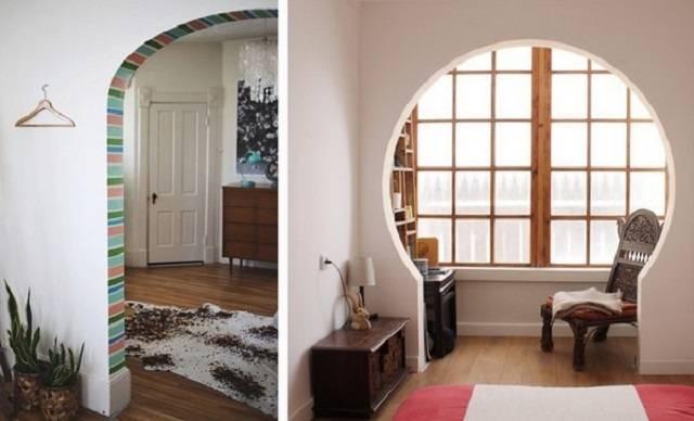 Как оформить дверной проем без двери фото