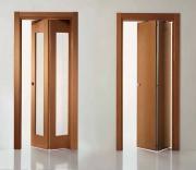 Двери-гармошка – варианты исполнения, преимущества и недостатки