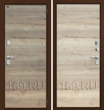 Дверь входная металлическая Groff «Т3-300» Tobacco Oak/Natural Oak