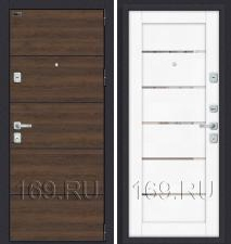 Дверь входная металлическая «Porta M П50.Л22» Tobacco Greatwood/White Softwood