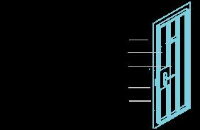 Дверь входная металлическая «Porta S-3 51/П61» Almon 28/Bianco Veralinga - Схема дверного блока