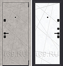 Дверь входная металлическая «Porta M-3 15.15» Grey Art/Snow Art