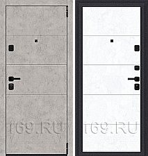 Дверь входная металлическая «Porta M-3 4.4» Grey Art/Snow Art